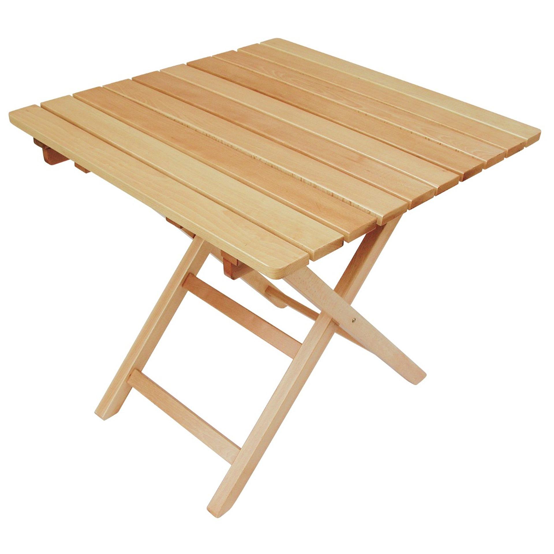 Tavoli tavolo in legno faggio pieghevole 90x90 for Tavolo in legno pieghevole